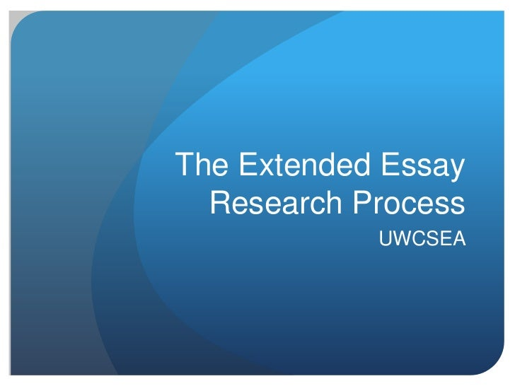 essay on research process
