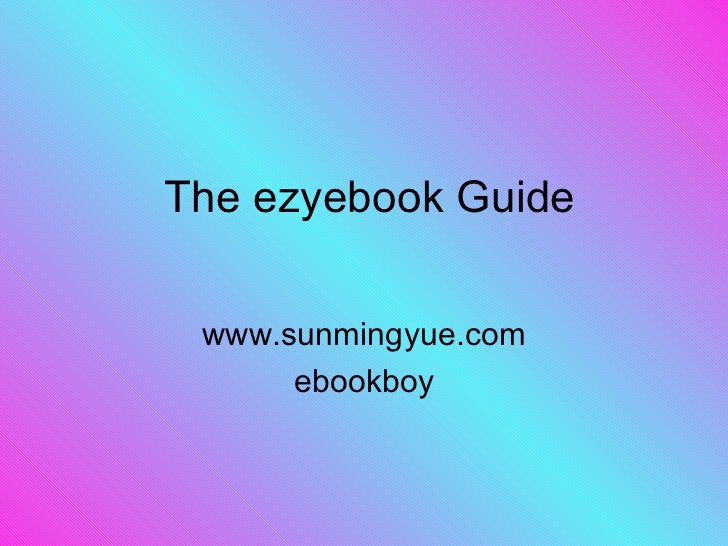 The ezyebook guide.ppt27