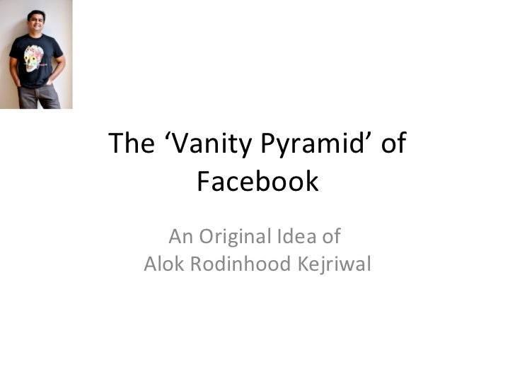 The 'Vanity Pyramid' of Facebook An Original Idea of  Alok Rodinhood Kejriwal