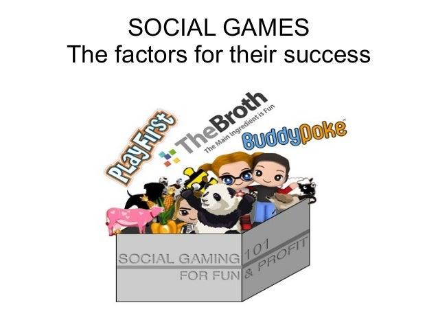 The factors of social games success