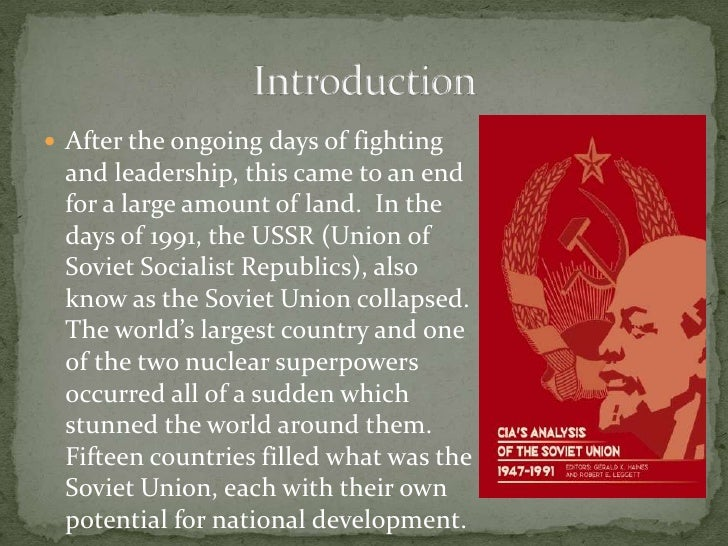 an analysis of the decline and fall of the soviet union The reasons for the rapid growth of the soviet union before roughly 1970 and  twentieth century, and it behooves us to analyse its history carefully to see what  the slowdown in accumulation was not due to a drop in the.