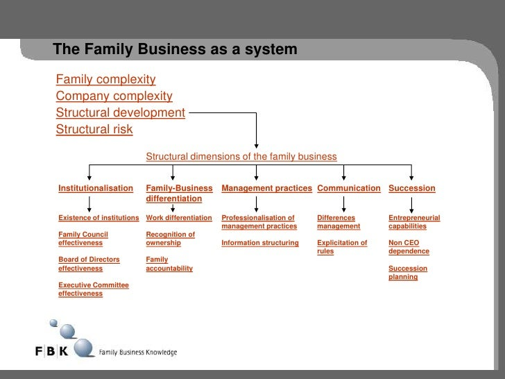 The Family Business as a systemFamily complexityCompany complexityStructural developmentStructural risk                   ...