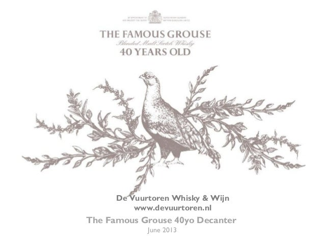 The Famous Grouse 40 years old