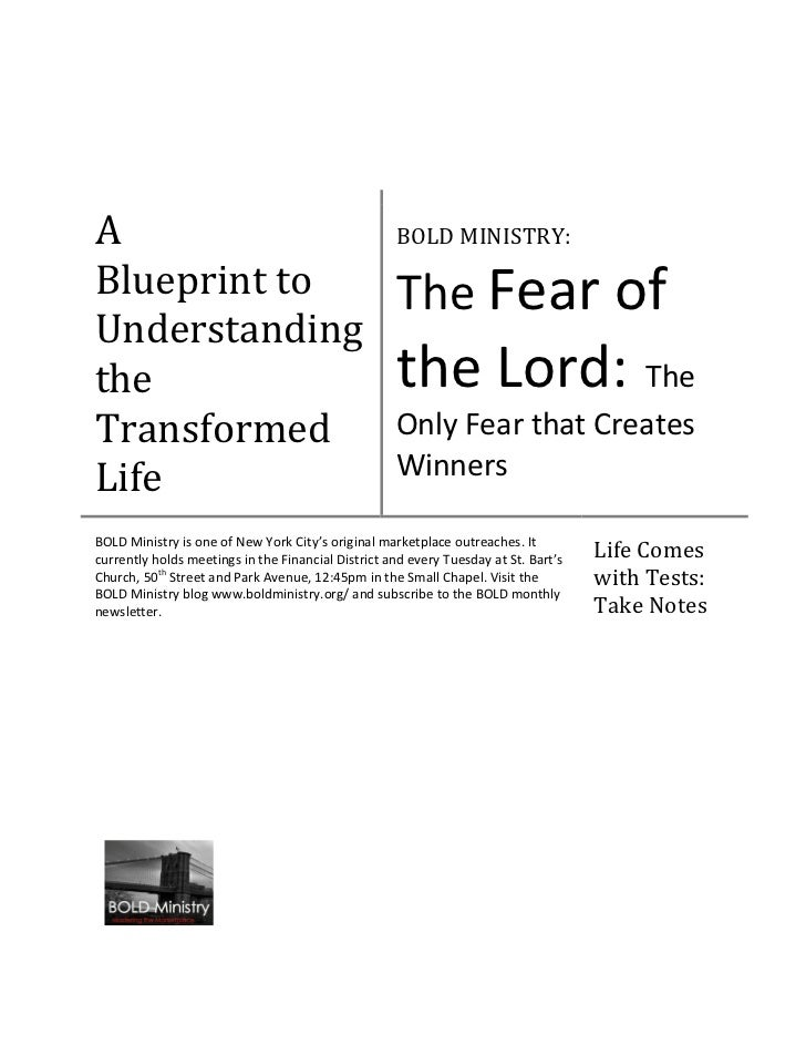 A                                                   BOLD MINISTRY:Blueprint to                                        The ...