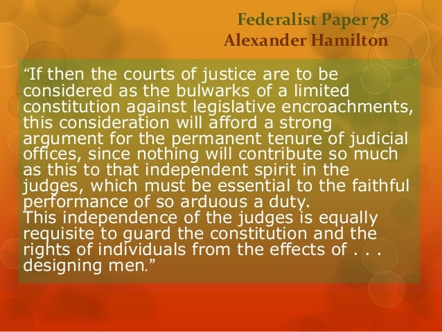 federalist argument essay The federalist papers : no 10 previous document: contents: ought to be our zeal in cherishing the spirit and supporting the character of federalists.