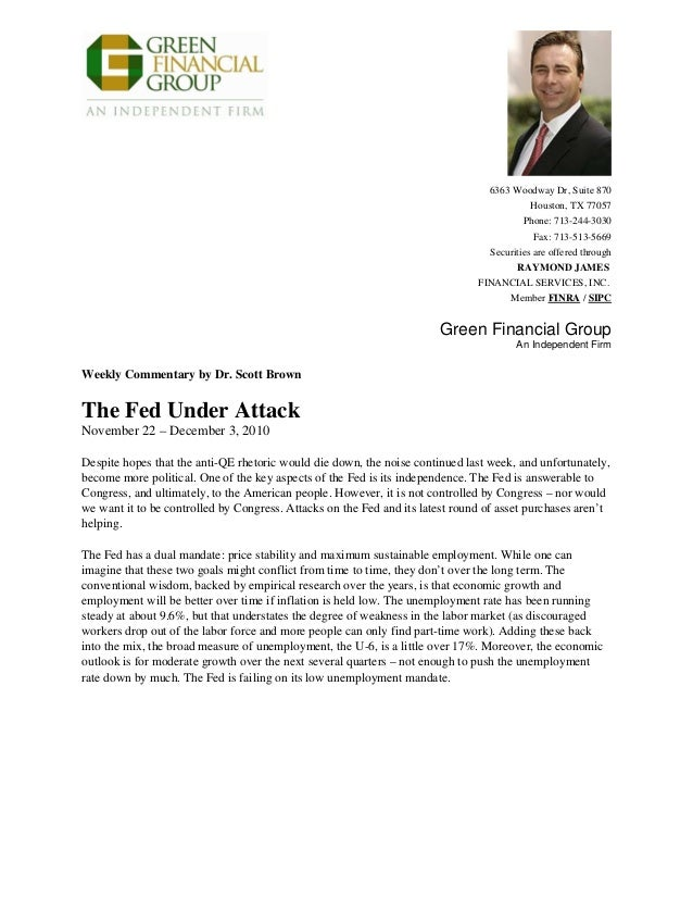 The Fed Under Attack