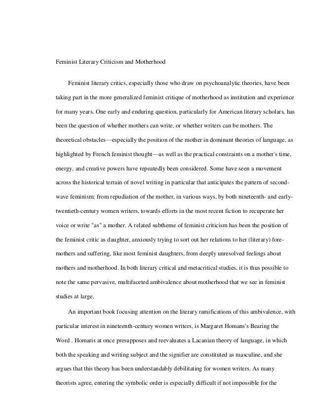 How to use feminist criticism for my AS English Lit essay?