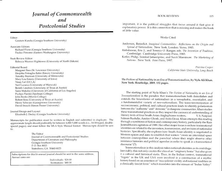 Journal of Commonwealth                                                                                      BOOK REVIEWS ...