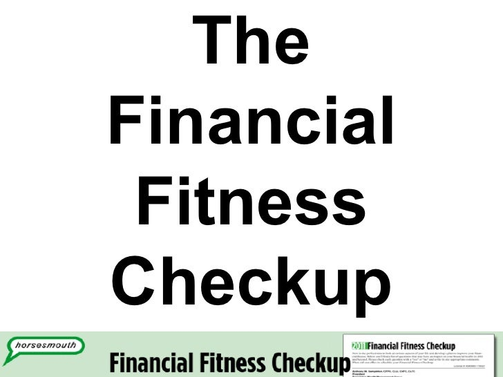 The Financial Fitness Checkup