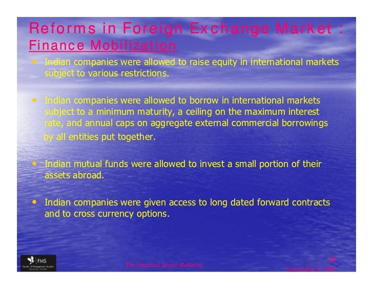 Forex market reforms in india