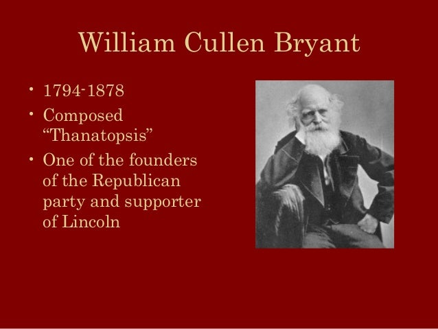 the relationship of god and nature in william cullen bryants thanatopsis