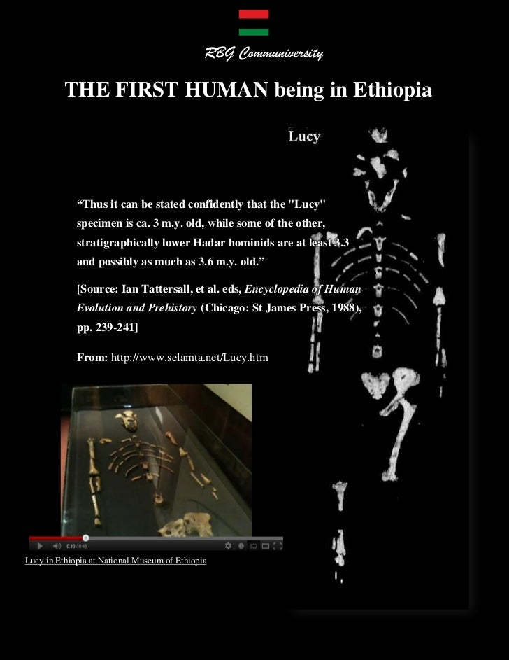 """The FIRST HUMAN Being in Ethiopia, """"When God Was Called Lucy"""""""