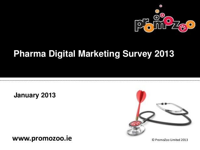 Pharma Digital Marketing Survey 2013January 2013www.promozoo.ie               © PromoZoo Limited 2013