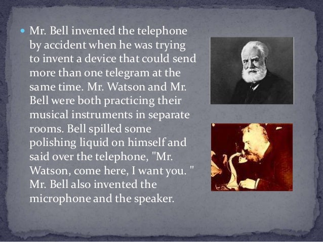 invention of the telephone The invention of the telephone, credited to alexander graham bell, changed communication learn more about the history of the telephone and it's.