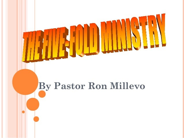 By Pastor Ron Millevo
