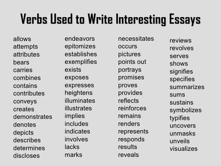 analysis words for essays