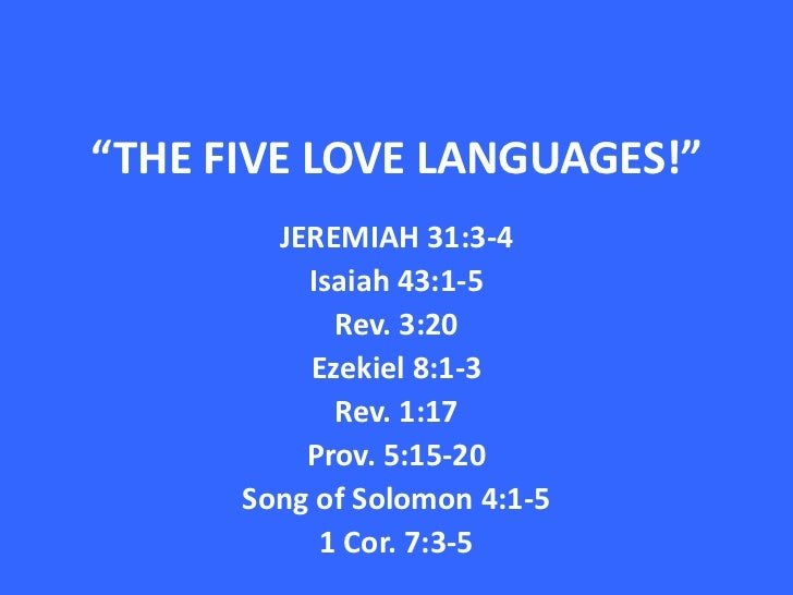 The Five Love Languages, Gary Chapman 2004 Profiles included, Commitment to Mate