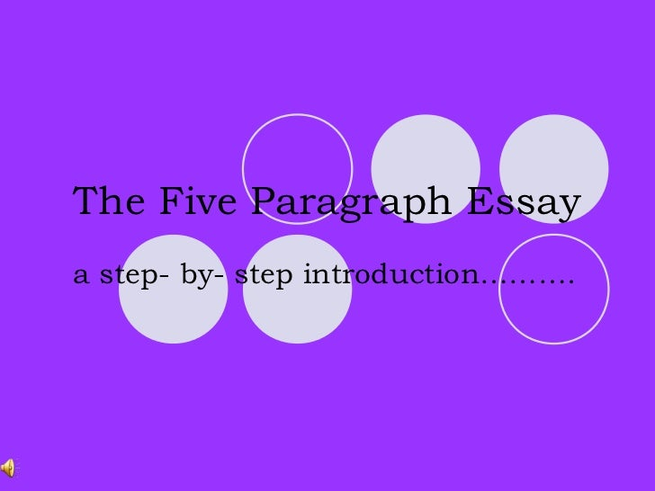 The Five Paragraph Essaya step- by- step introduction……….