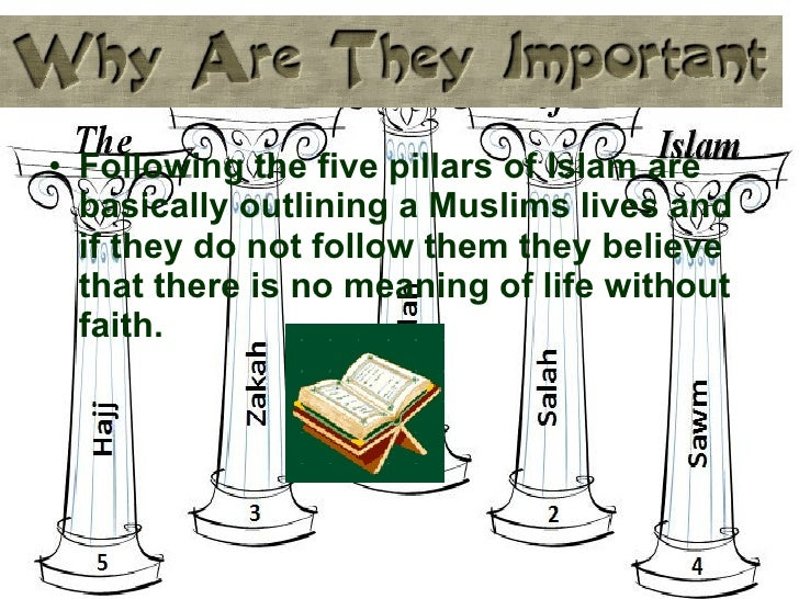 a discussion about the five pillars and six beliefs of islam You complete the five pillars of islam here are brief explanations of the six articles of faith in islam belief in allah – this is covered fairly well in my.