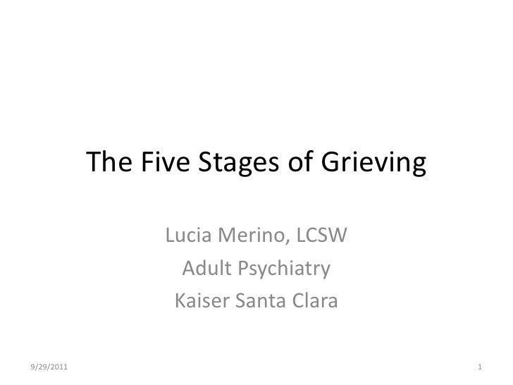 The five stages of grieving