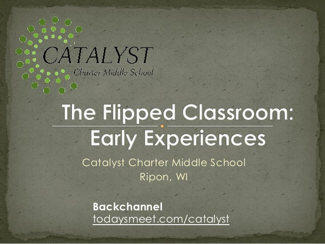 Catalyst Charter Middle School          Ripon, WI Backchannel todaysmeet.com/catalyst