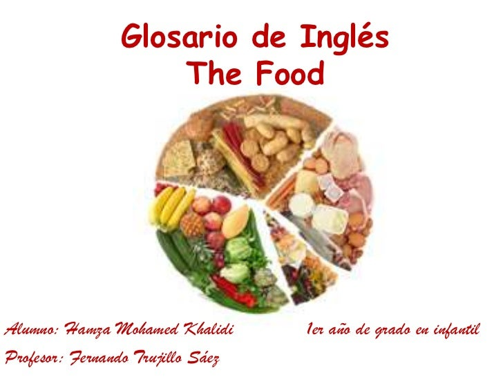 Glosario de InglésThe Food<br />Alumno: Hamza Mohamed Khalidi1er año de grado en infantil<br />Profesor: Fernando Trujil...