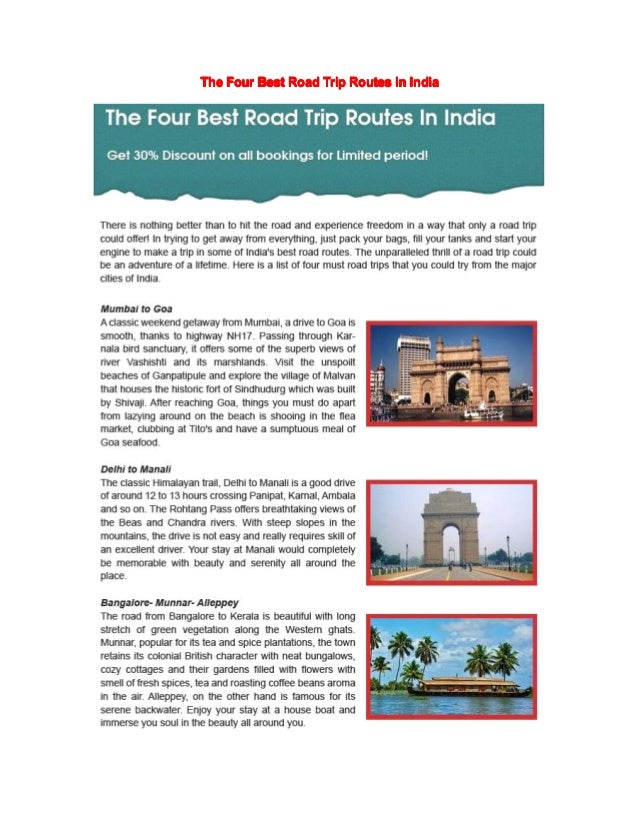 The four best road trip routes in india