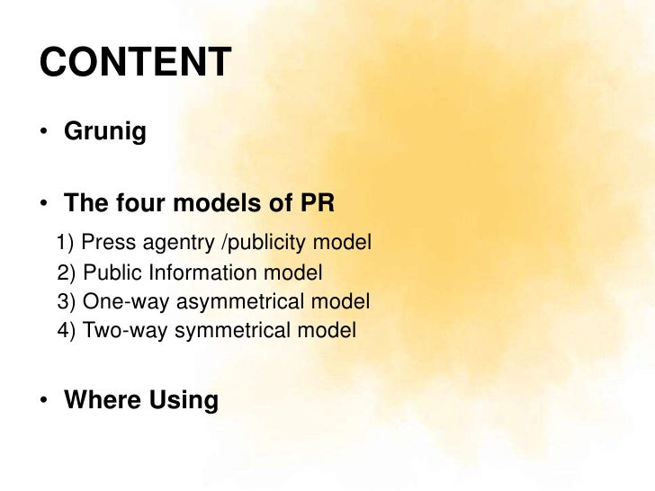 The Four Models Of Pr