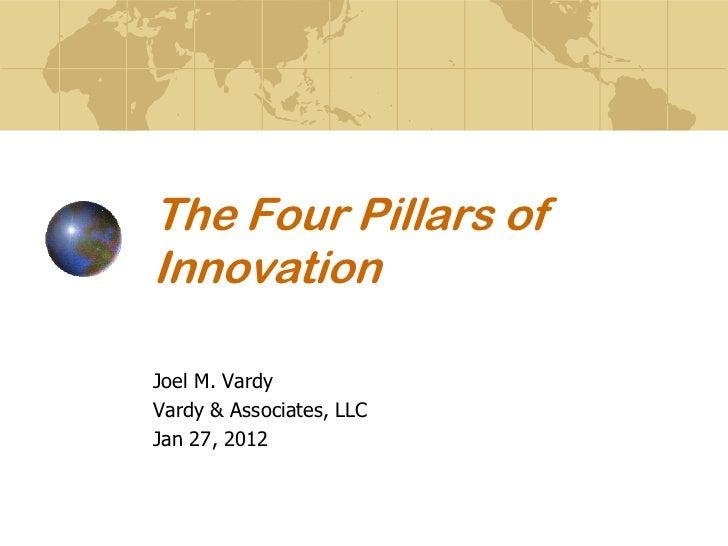 The Four Pillars ofInnovationJoel M. VardyVardy & Associates, LLCJan 27, 2012