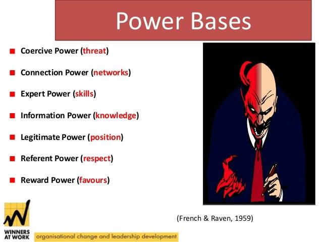 five bases of powers coercive reward legitimate expert referent powers