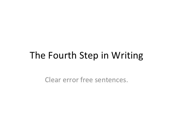 The fourth step in writing 1