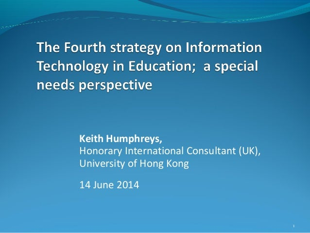 """Keith Humphreys """"The Fourth Strategy challenges for teachers of students with special education needs"""""""
