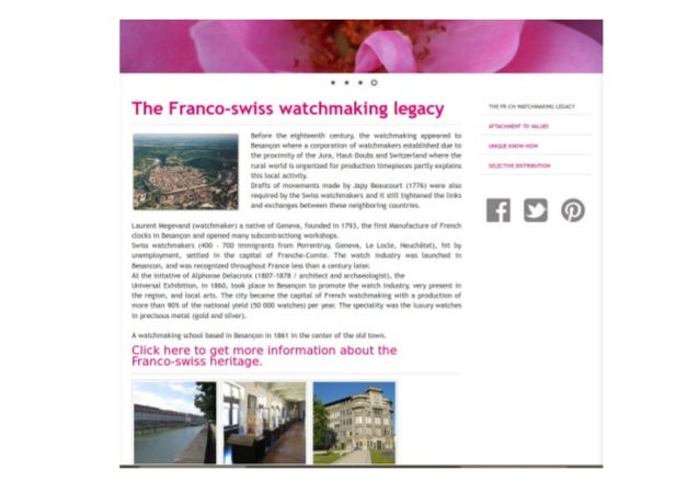 The franco-swiss watchmaking heritage
