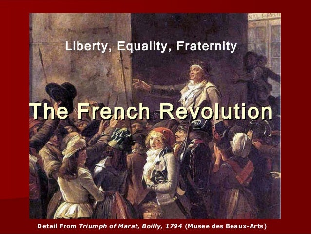 Liberty, Equality, FraternityThe French RevolutionDetail From Triumph of Marat, Boilly, 1794 (Musee des Beaux-Arts)