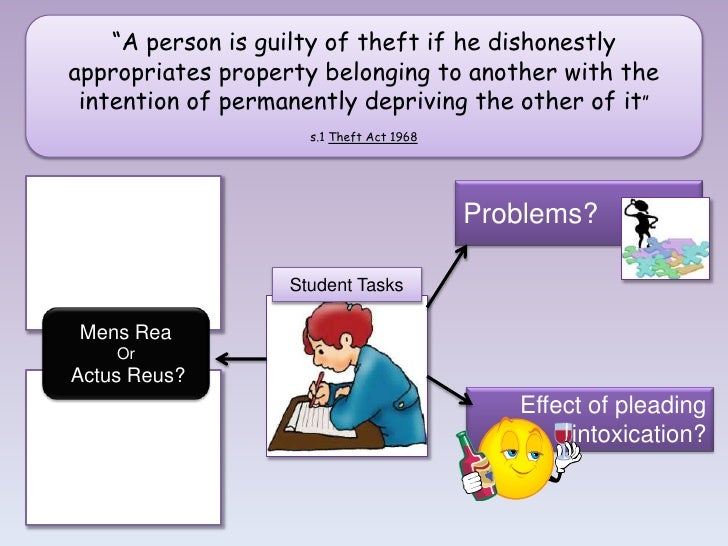 problems with the theft act 1968 The offence of robbery under s8 theft act 1968 in criminal law robbery is a form  of aggravated theft the actus reus and mens rea of theft must be present.