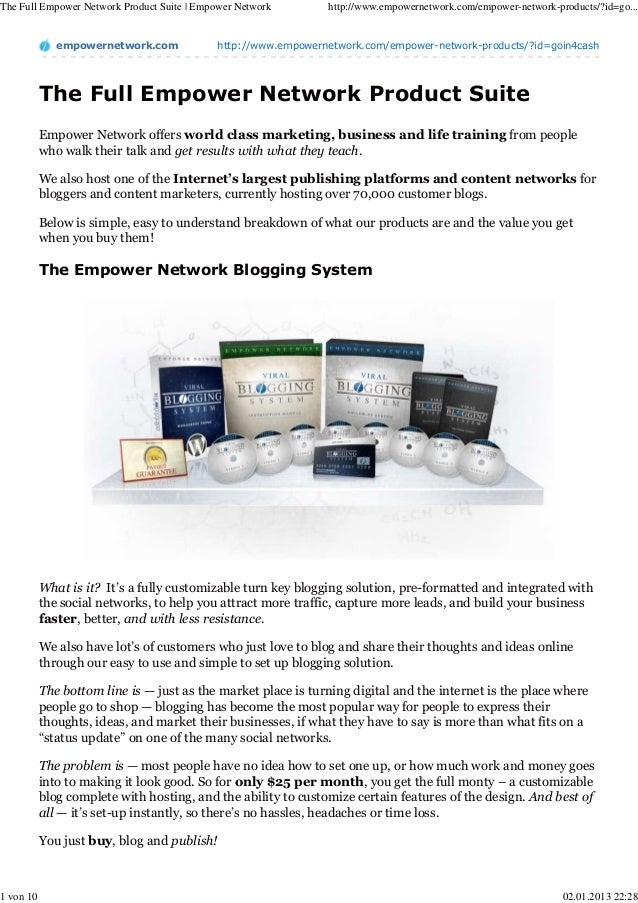 The Full Empower Network Product Suite | Empower Network       http://www.empowernetwork.com/empower-network-products/?id=...