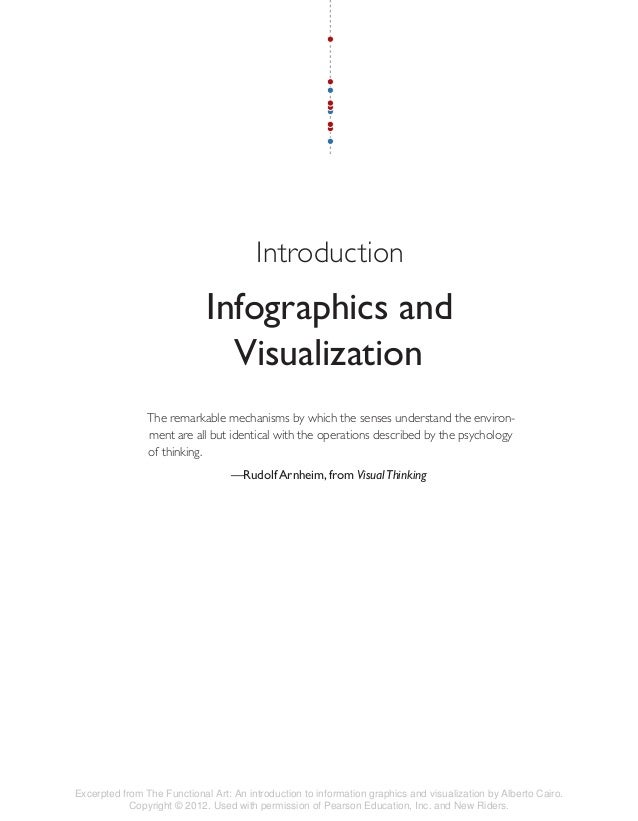 Introduction Infographics and Visualization The remarkable mechanisms by which the senses understand the environ- ment are...