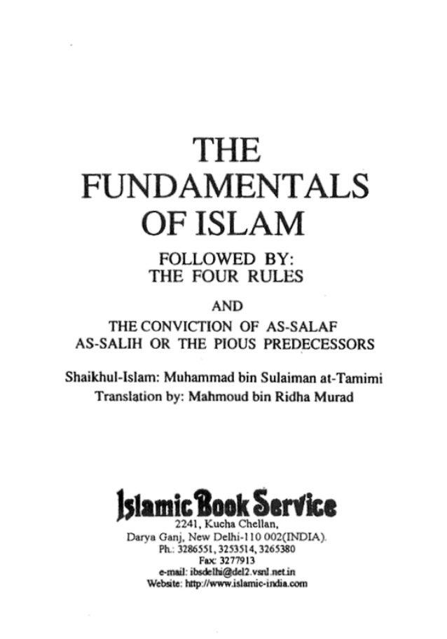 The fundamentals of Islam | Muhammad ibn Suleyman at-Tamimi