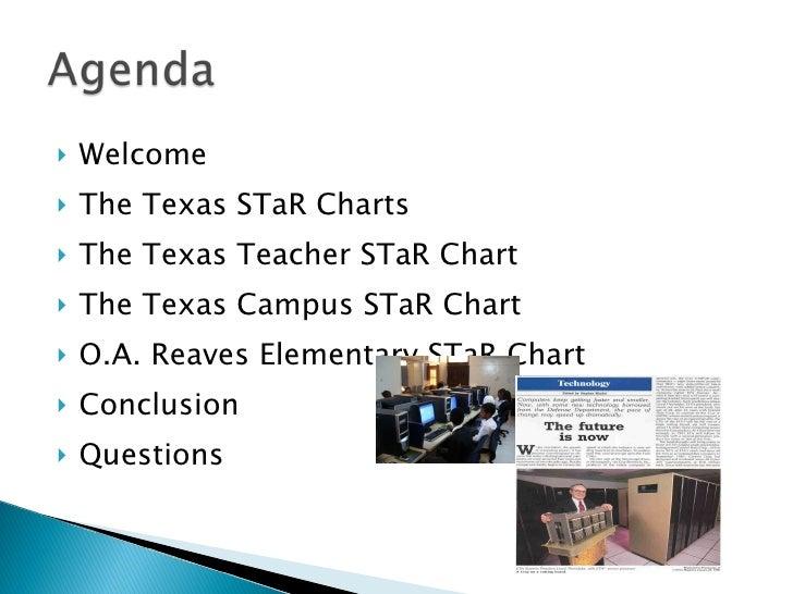 <ul><li>Welcome </li></ul><ul><li>The Texas STaR Charts </li></ul><ul><li>The Texas Teacher STaR Chart </li></ul><ul><li>T...