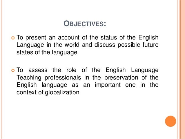 Essay On English As A Global Language