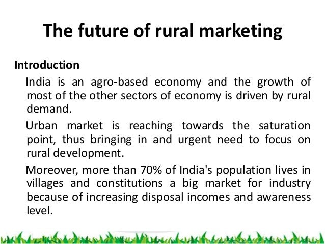 research papers on rural marketing in india