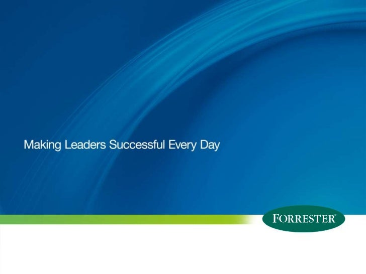 The future of scaling forrester research - GigaSpaces Road Show 2011