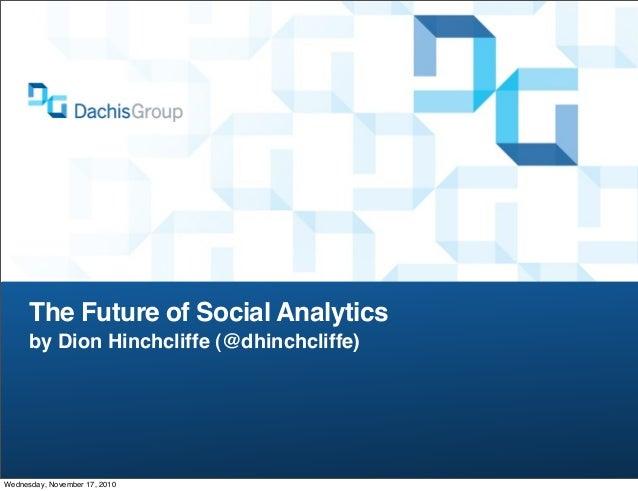 The Future of Social Analytics - Defrag 2010
