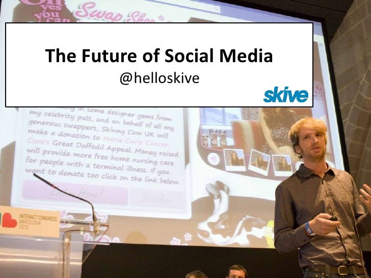The Future of Social Media        @helloskive