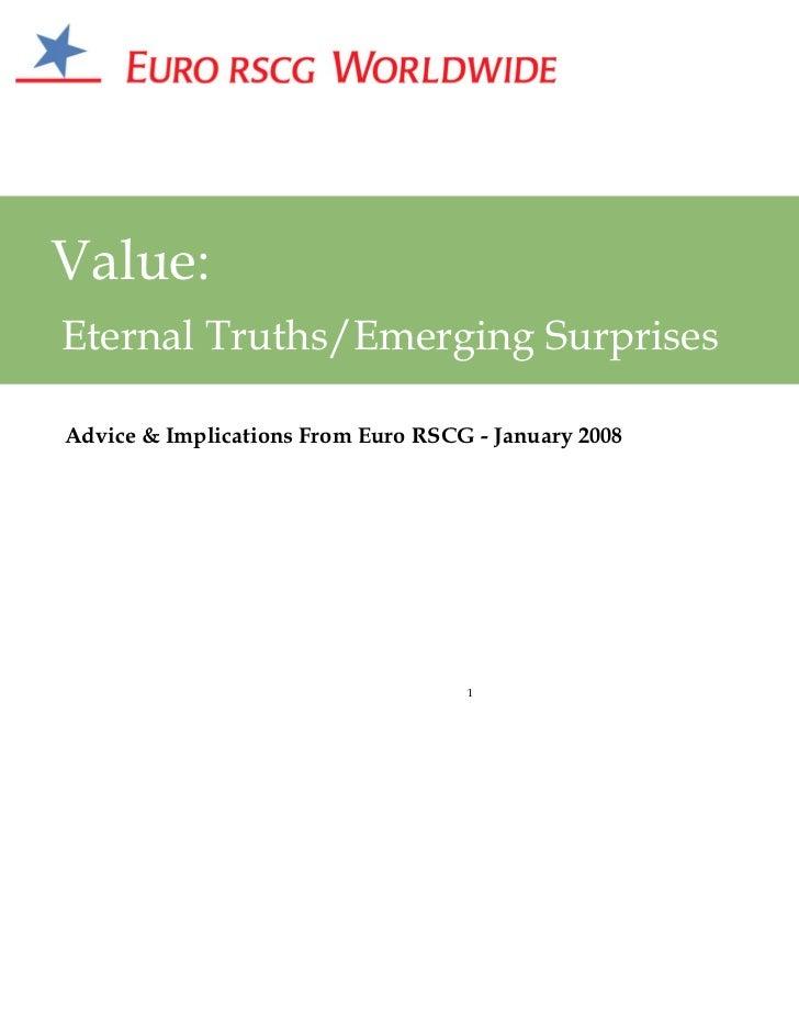 The Future of Value - Presentation