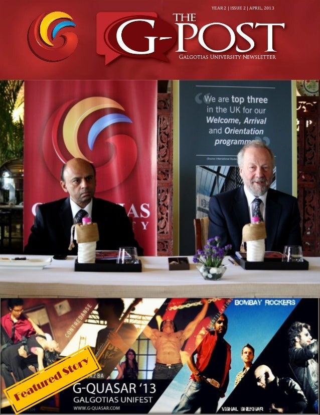 The g-post 6th Edition,Galgotias University