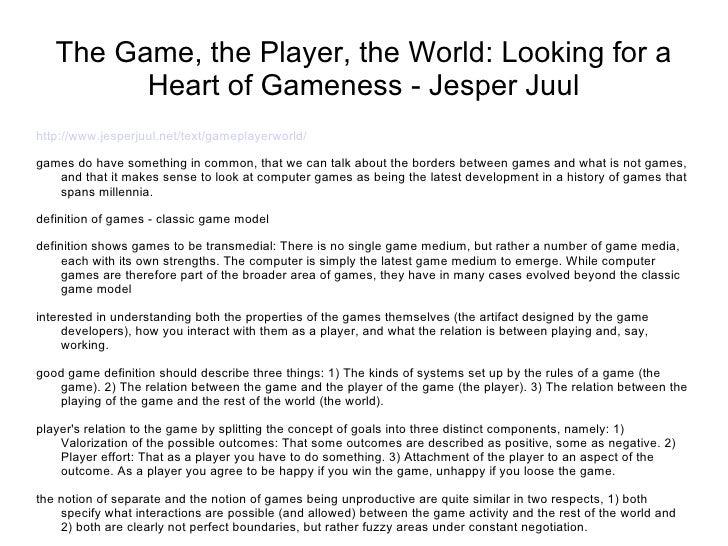 Thegameplayerworld jesperjuul