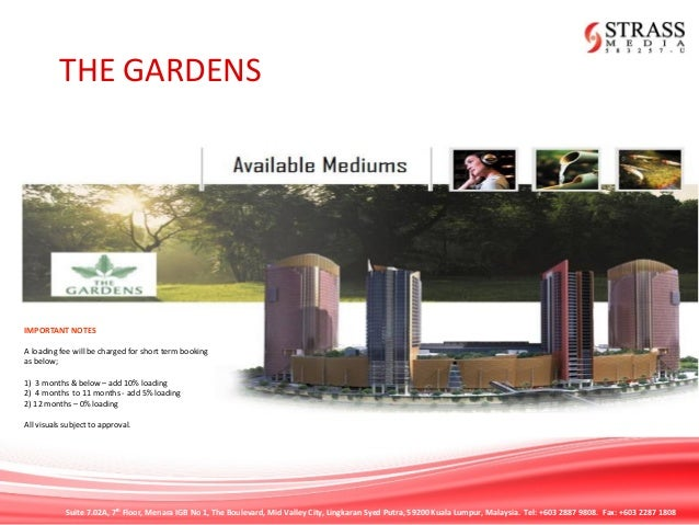 THE GARDENS MALL RATECARD