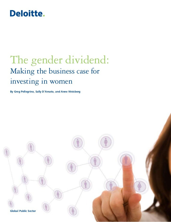 The Gender Dividend: Making the business case for investing in women