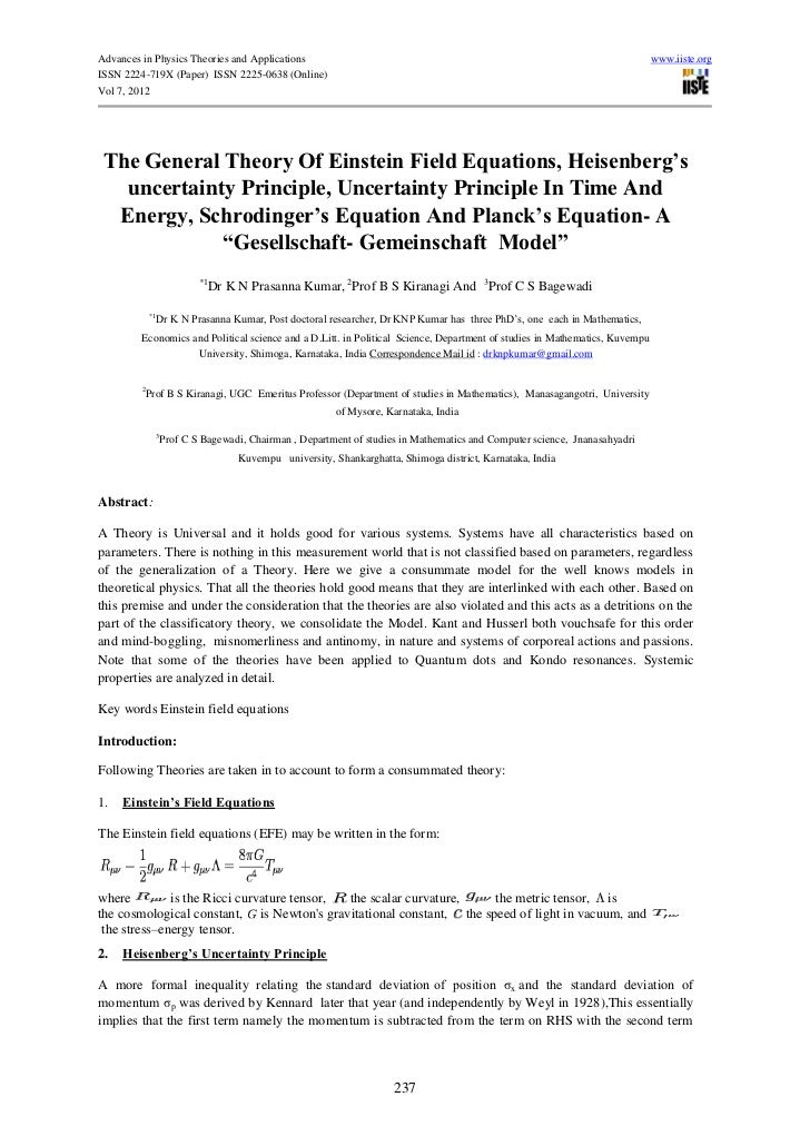 Advances in Physics Theories and Applications                                                                             ...